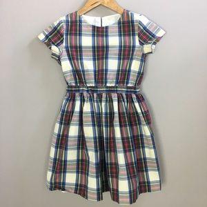 Crewcuts Girls Tartan Holiday Plaid Dress 8